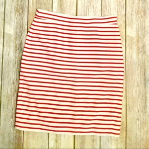 J. Crew The Pencil Skirt Burnt Orange and White